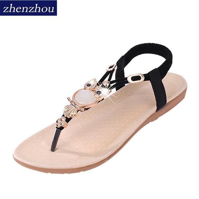 d85115f0960e Free shipping !! summer 2017 Flip Flops Women's shoes Bohemian girl sandal  thong beaded metal