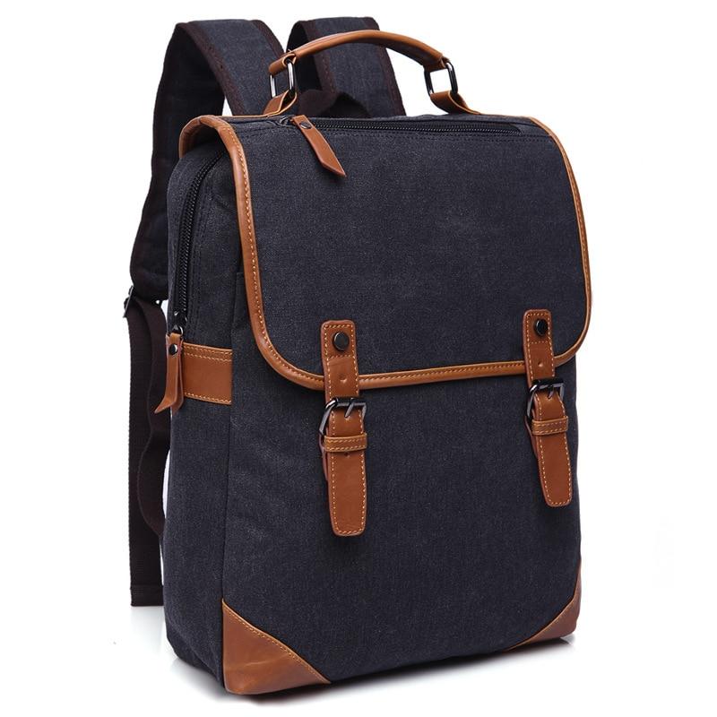 New Men Travel Backpack Mens Vintage Canvas Backpack Large Capacity Student School Bag Retro Laptop Rucksack Pack mochilasNew Men Travel Backpack Mens Vintage Canvas Backpack Large Capacity Student School Bag Retro Laptop Rucksack Pack mochilas
