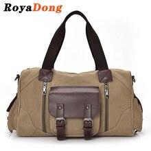 Royadong männer reisetaschen hochwertige vintage canvas duffle gepäcktasche männlichen wochenende taschen große handtasche 2017