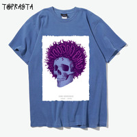 jimi hendrix purple haze skull patchwork design men women size vintage fashion tee cotton t shirt
