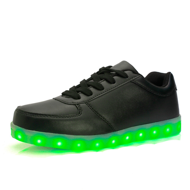 7 ipupas Unisex Zapatos Hombres Recarga Luminoso Iluminado Led Para Adultos Neón cesta Llena de color Brillante zapatos Casuales negro blanco plateado