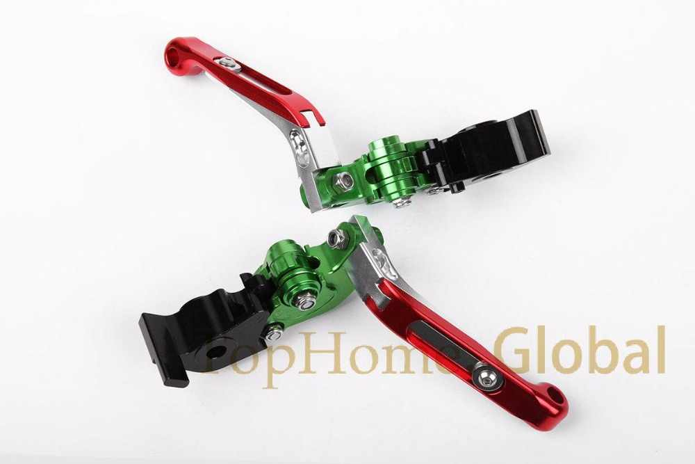 Foldable Extendable Brake Clutch Levers For Aprilia RSV MILLE /R 1999-2003 CNC Green/Siver/Red 00 01 02