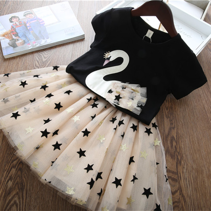 Whitegeese Toddler Baby Kids Girls Easter Rabbit Bunny Tops Print Skirt Casual Outfits Set