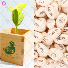 Mini Magic 5pcs / Bag White Bean plant Gift Plant Growth Message Word Love Office Home Gardening Decoration Random Sending
