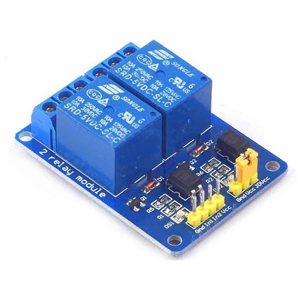 2 Way 5v Relay Module With Optocoupler Protection
