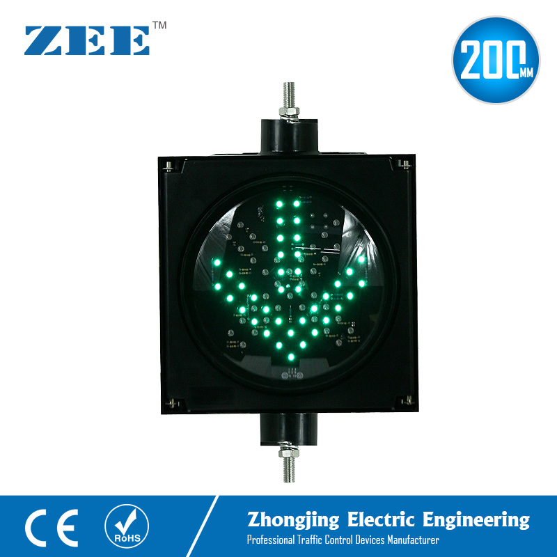 220V/110V 12V Or 24V 8 Inches 200mm LED Traffic Signal Light Parking Lot Traffic Light Entrance And Exit Toll Station Signals
