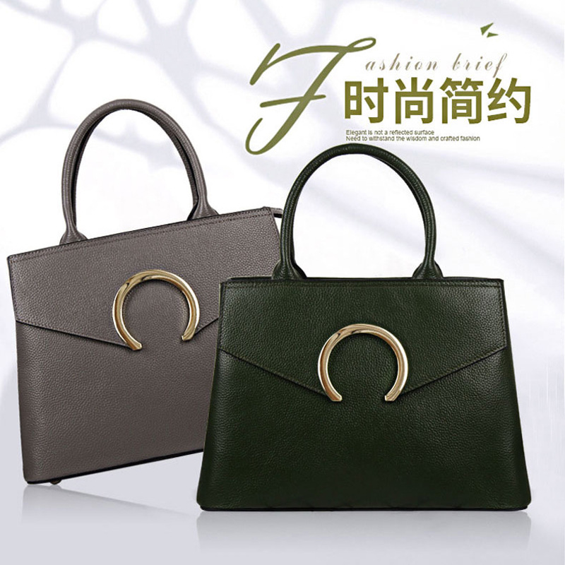 2018 new leather handbag, European and American fashion handbag, litchi zipper, single shoulder handbag handbag silvio tossi handbag