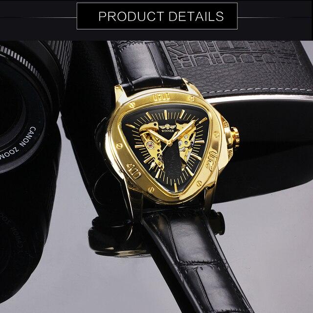 Automatic Mechanical Triangle Skeleton Wrist Watch 3