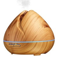 Wood Grain Aromatherapy Air Humidifier 400ml Large Capacity Essential Oil Aroma Diffuser With LED Light Ultrasonic