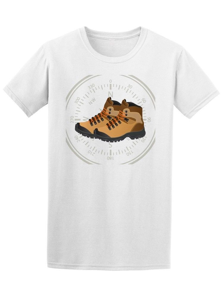 Hikinger Camp Boots Compass Mens Tee Fashion Design Free Shipping