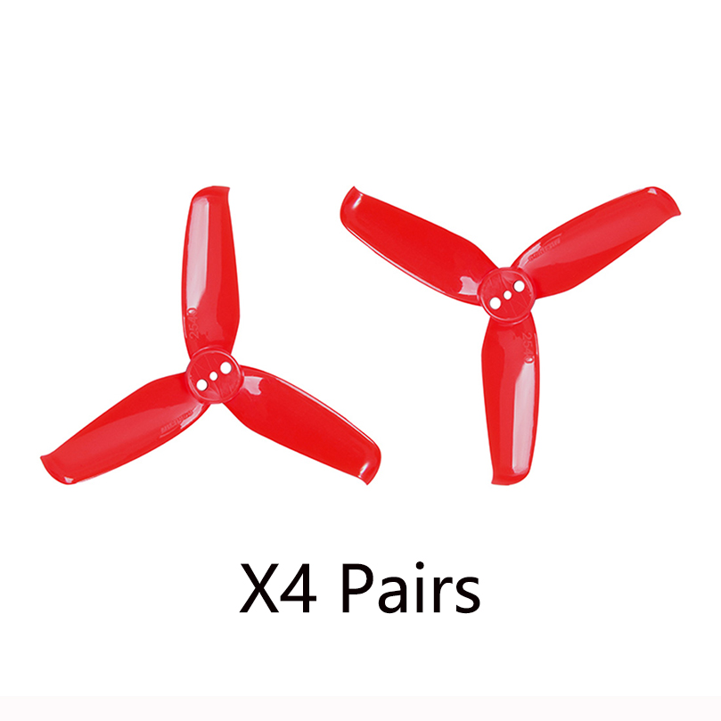 4 Pairs GEMFAN Flash 2540 2.5x4 2.5 Inch 3-blade Propeller with 1.5mm Mounting Hole for 1105 <font><b>1106</b></font> <font><b>Motor</b></font> image