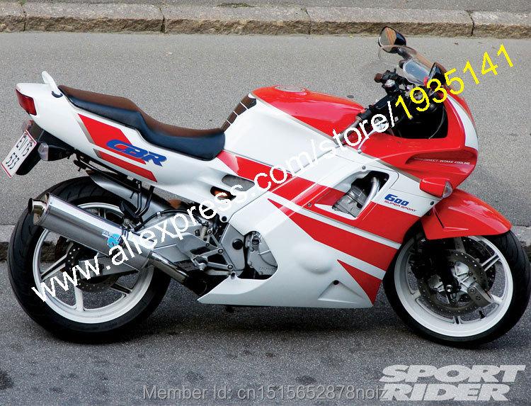 Hot Sales,Cheap Body Kit For Honda CBR600 F2 91 92 93 94 CBR600F2 1991 1992 1993 1994 CBR600 Red White ABS Motorcycle Fairing