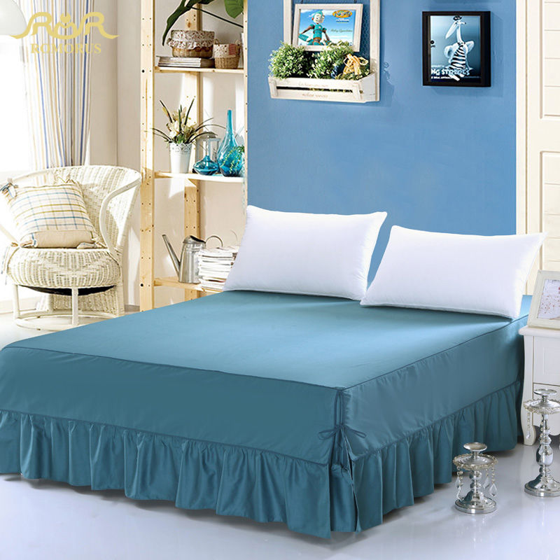 king size bed skirt romorus 100 cotton solid color king size navy 29403