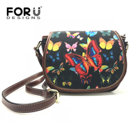 FORUDESIGNS Brand Designer Women Shoulder Bags 2017 New Fashion Butterfly 3D Messenger Bags For Ladies Girls