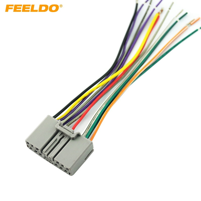 Feeldo Car Audio Cd Player Radio Stereo Wiring Harness Adapter Jack For Honda Civic  Fit  Cr V