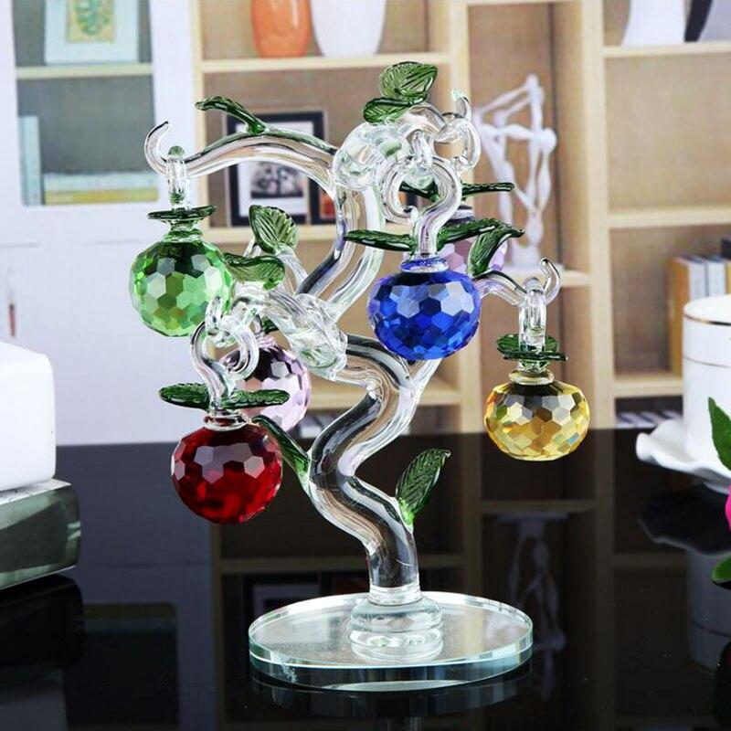 Bella Cristallo di Apple Tree Home Decor Decorazione Della Festa Nuziale Regali per la Famiglia (Altezza: 15)Bella Cristallo di Apple Tree Home Decor Decorazione Della Festa Nuziale Regali per la Famiglia (Altezza: 15)