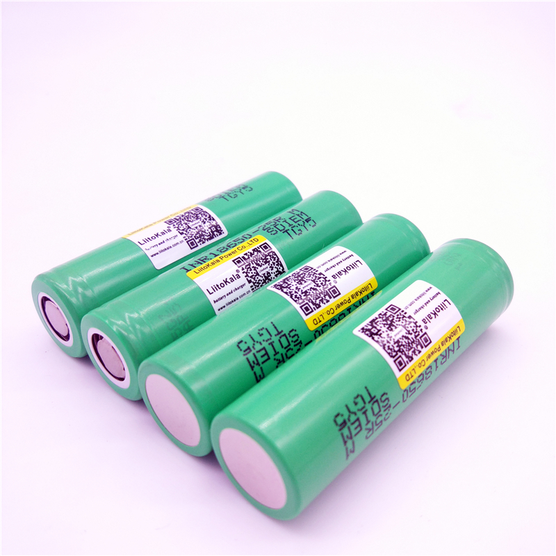 liitokala for samsung 18650 2500mah lithium battery 25r inr1865025r 20a battery for electronic cigarette+Free shipping 1pcs for samsung original 18650 25r inr1865025r 20a discharge lithium batteries 2500mah electronic cigarette power battery