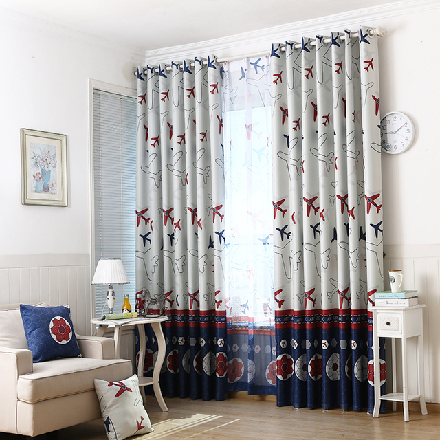 Curtains Ideas curtains boys room : Aliexpress.com : Buy Cartoon Aircraft Blackout Window Curtains For ...