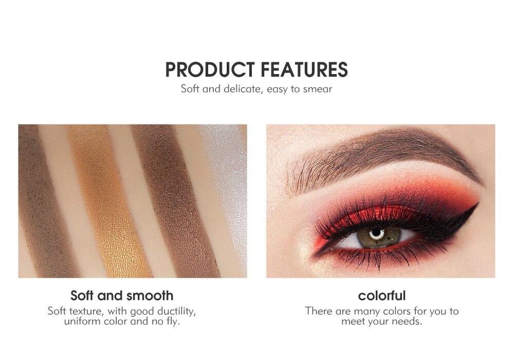 Realistic High Quality 26 Colors Eye Shadow Makeup Eyeshadow Palette Cosmetic Eyeshadow Blush Lip Gloss Powder New 50% OFF Beauty & Health