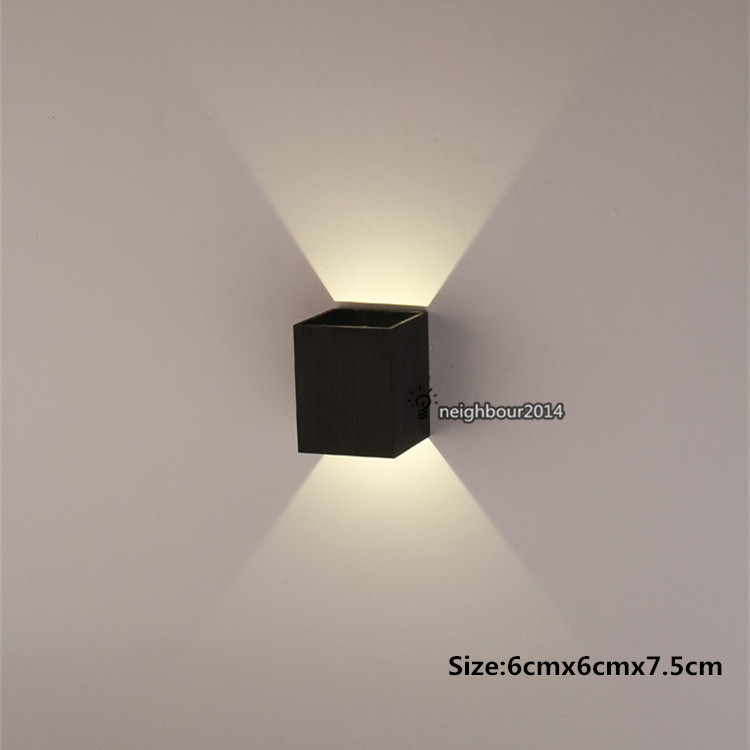 New modern 3w led square wall lamp hall porch walkway living room new modern 3w led square wall lamp hall porch walkway living room light fixture indoor lighting in led indoor wall lamps from lights lighting on aloadofball Gallery