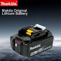 Япония Makita оригинальный 18 V литиевая Батарея BL1830/40/50B зарядки Мощность инструмент Аксессуары Батарея BL1815N заряда Дисплей