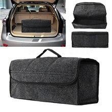 Портативный складная сумка для хранения автомобиля Фетр ткань багажник Организатор разборный внедорожник авто Интерьер уборки контейнер Сумки коробка dx