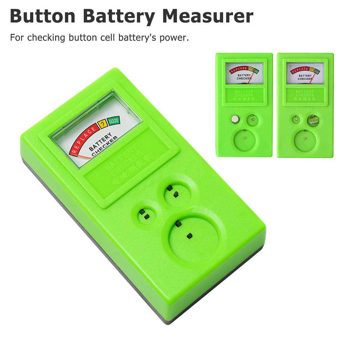 Outil de Test avec boutons en plastique, livraison gratuite réparation de montre, pièce de monnaie, batterie de cellule, vérificateur d'alimentation, outil de Test 1.55 V/3 V