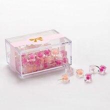 80 Pcs/box Jelly Pin Thumb Tacks Marcaron Color Push Pins Thumbtack Pins For Cork Board Decorative