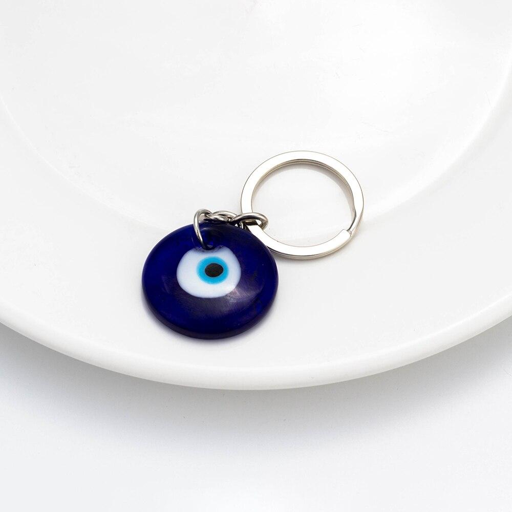 Lucky Eye Evil Eye Eye Keychain 3cm Okrogli modri obesek Obesek za - Modni nakit - Fotografija 3