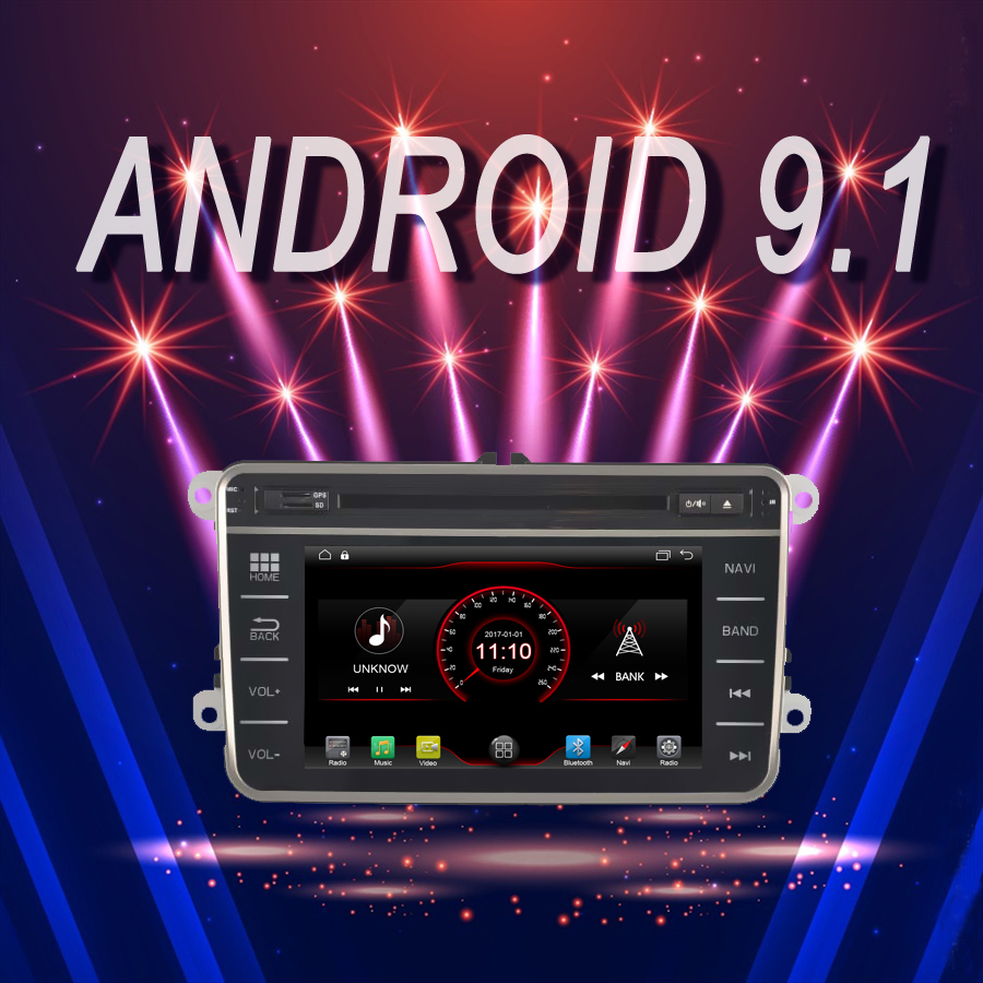 car multimedia Player Android 9.1 Car GPS Bluetooth stereo fit for passat b6 <font><b>golf</b></font> tiguan polo skoda <font><b>2011</b></font> DVD autoradio Head Unit image