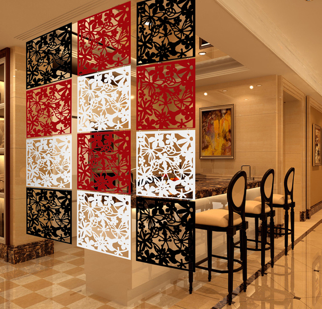 Pvc Fashion Hanging Screen Partition Fashion Wall Stickers Chinese Style Cutout Home Screen Entranceway Door