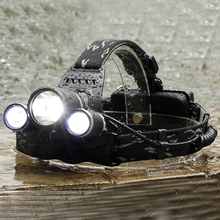8000LM Zoomable 3 LED Rechargeable 18650 Headlamp Head Light Torch EU Plug US