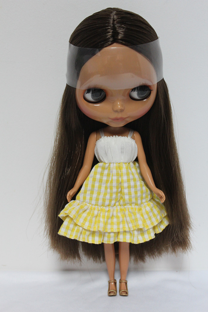 Free Shipping big discount RBL-134DIY Nude Blyth doll birthday gift for girl 4colour big eyes dolls with beautiful Hair cute toy big beautiful eyes косметический набор косметический набор big beautiful eyes