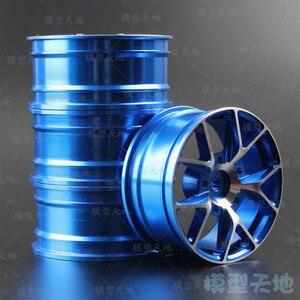 Image 2 - 4pcs 1/10 On Road Drift Car 52MM Aluminum Alloy Metal Wheel Hub 1.9Inch Climb Car Wheel Rim For HSP Tamiya HPI Kyosho Sakura 103