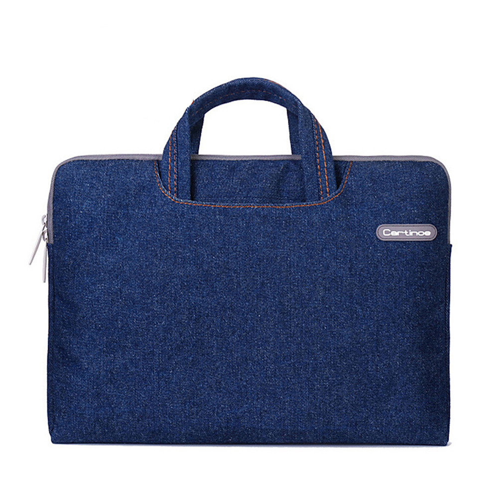 Denim Portable Laptop Bag 11.6 13.3 14 inch Sleeve Case Briefcase Handbag for Macbook touchbar 13 15 pro Notebook carring Case
