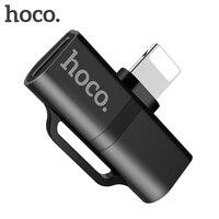 HOCO аудио адаптер для iphone X 7 8 плюс 2 в 1 зарядный кабель двойной молнии сплиттер для Apple iphone XS MAX XR AUX конвертер