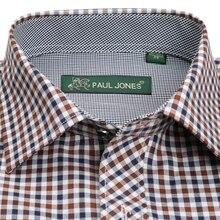 Men's Classic Plaid Checkered Dress Shirt Single Pocket Smart Casual Formal Male Business Regular-fit Long Sleeve Work Shirts