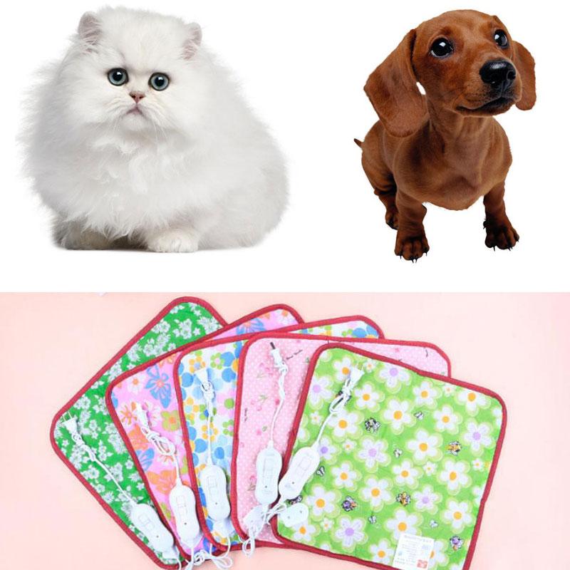 40x40cm Animals Bed Heater Mat Heating Pad Good Cat Dog Bed Body Winter Warmer Carpet Pet Plush Electric Blanket Heated Seat