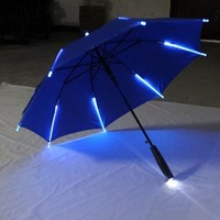 LED Changing Color Luminous Umbrella Glow Flashlight Rain Umbrella For Party Supply MYDING