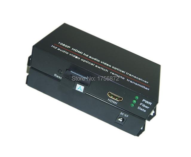1 par hdmi de áudio e vídeo Transceptor de Fibra Óptica hdmi hdmi switch conversor óptico 1080 P Única Fibra 20 KM SC