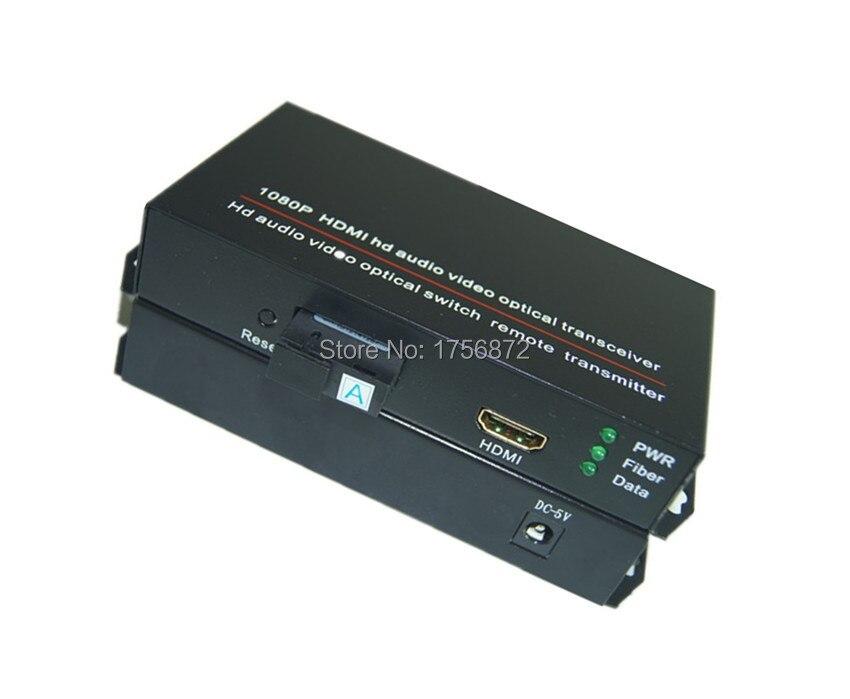 imágenes para 1 par hdmi de audio y vídeo Transceptor de Fibra Óptica hdmi hdmi switch convertidor óptico 1080 P Fibra del Solo 20 KM SC