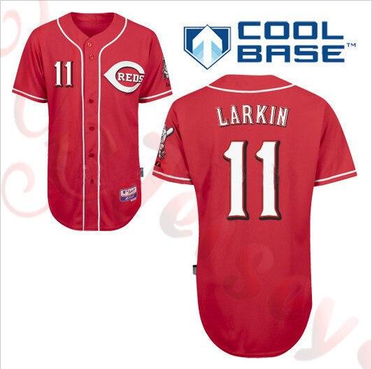promo code 5dcdb a93e2 Cincinnati Reds #11 barry larkin jersey Baseball Jerseys ...