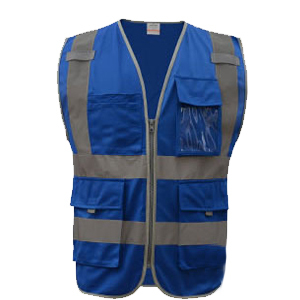 SFvest Safety Reflective vest men safety workwear work vest tool pockets yellow blue waistcoat free shipping  3