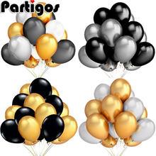 20 шт/лот 12 дюймов Жемчужные золотые серебряные черные белые