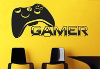 Gamer Players Gaming Time xbox 360 ps3 Game Controller Vinyl Wall Decal Wall Sticker Kids Children Nursery Bedroom Decoration