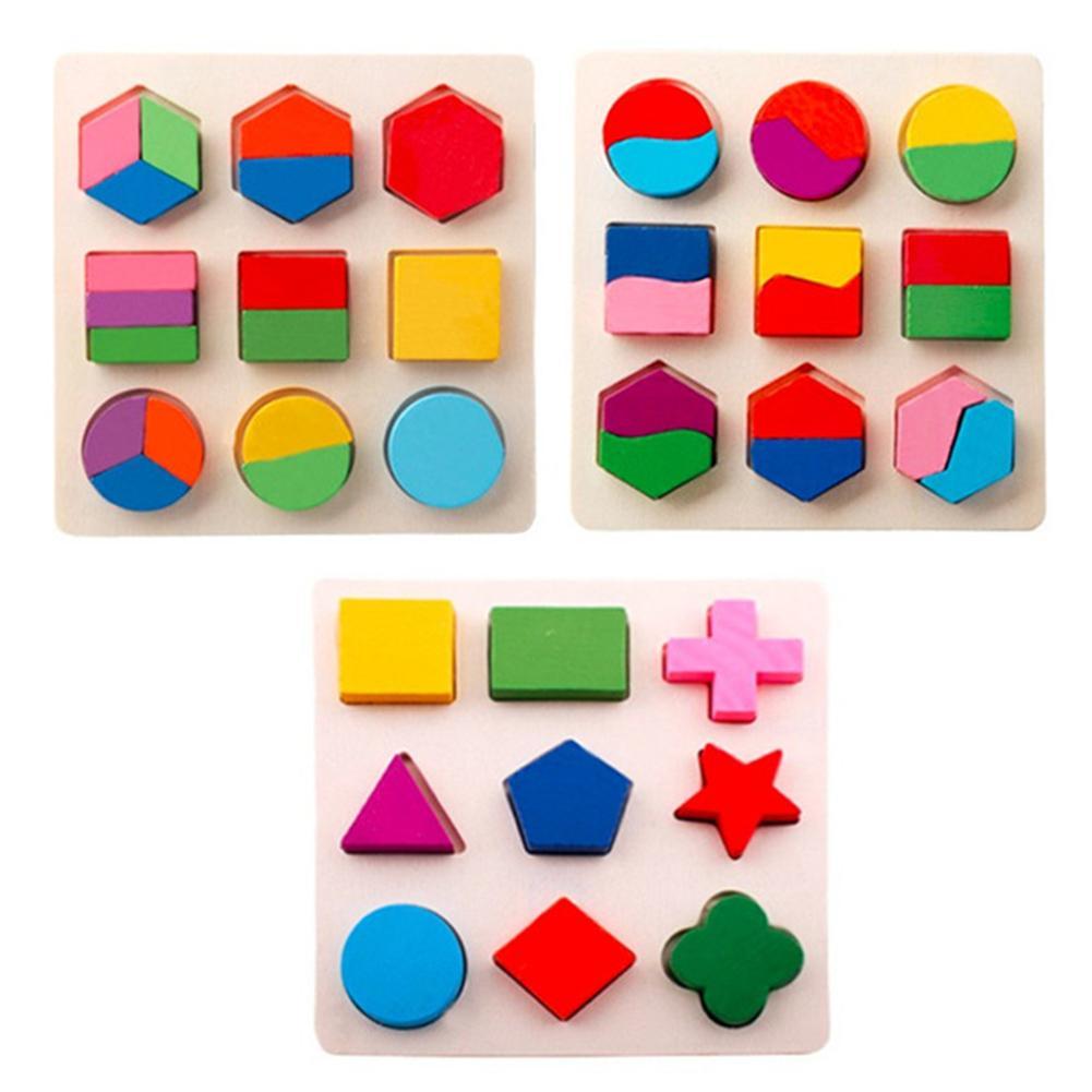 1 Pc 3d Formes Bois Puzzle Enfants Bébé En Bois Jouets Puzzle Apprentissage Bébé Jouet Jouets éducatifs Pour Enfants Bébé Drop Shiping Bonne RéPutation Sur Le Monde