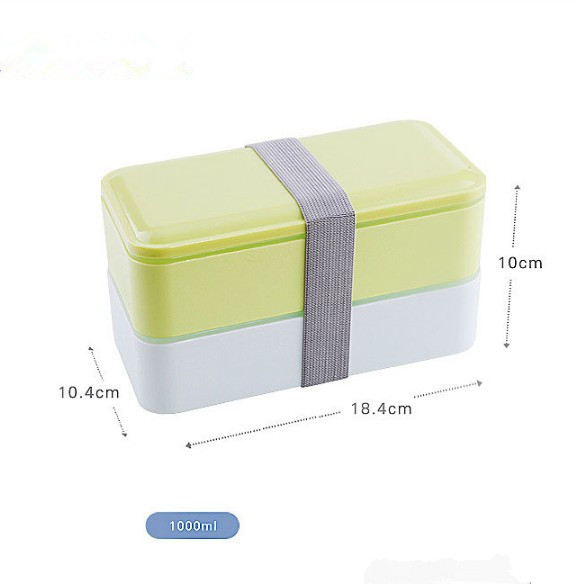 High Quality 1000ml Double Layer Food Storage Container Microwave Oven Lunch Bento Boxes Lunchbox Dinnerware