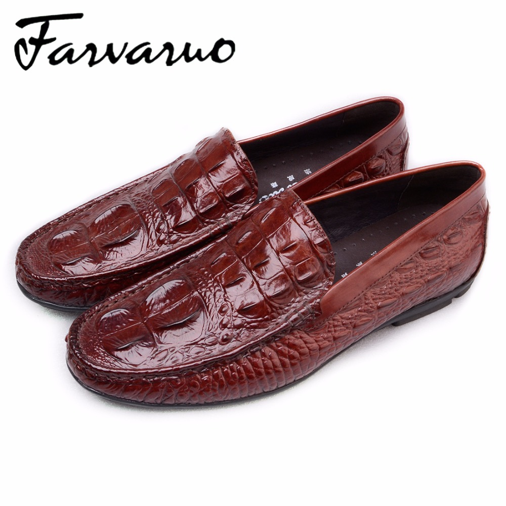 Farvarwo Italian Mens Loafers Casual Shoes High Quality Genuine Leather Slip Ons Moccasins Flats Shoes Men Black Luxury Brand black real leather 2017 mules summer brown european loafers men genuine shoes moccasins half male casual slip ons hot sale