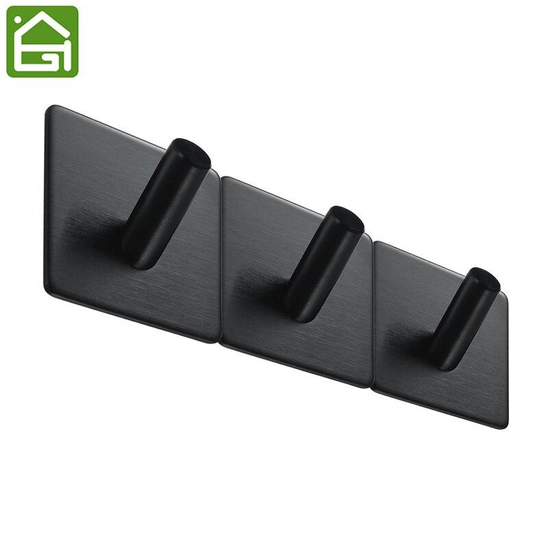 1 pc 3m self adhesive hooks heavy duty stainless steel coat key wall mounted hooks waterproof. Black Bedroom Furniture Sets. Home Design Ideas