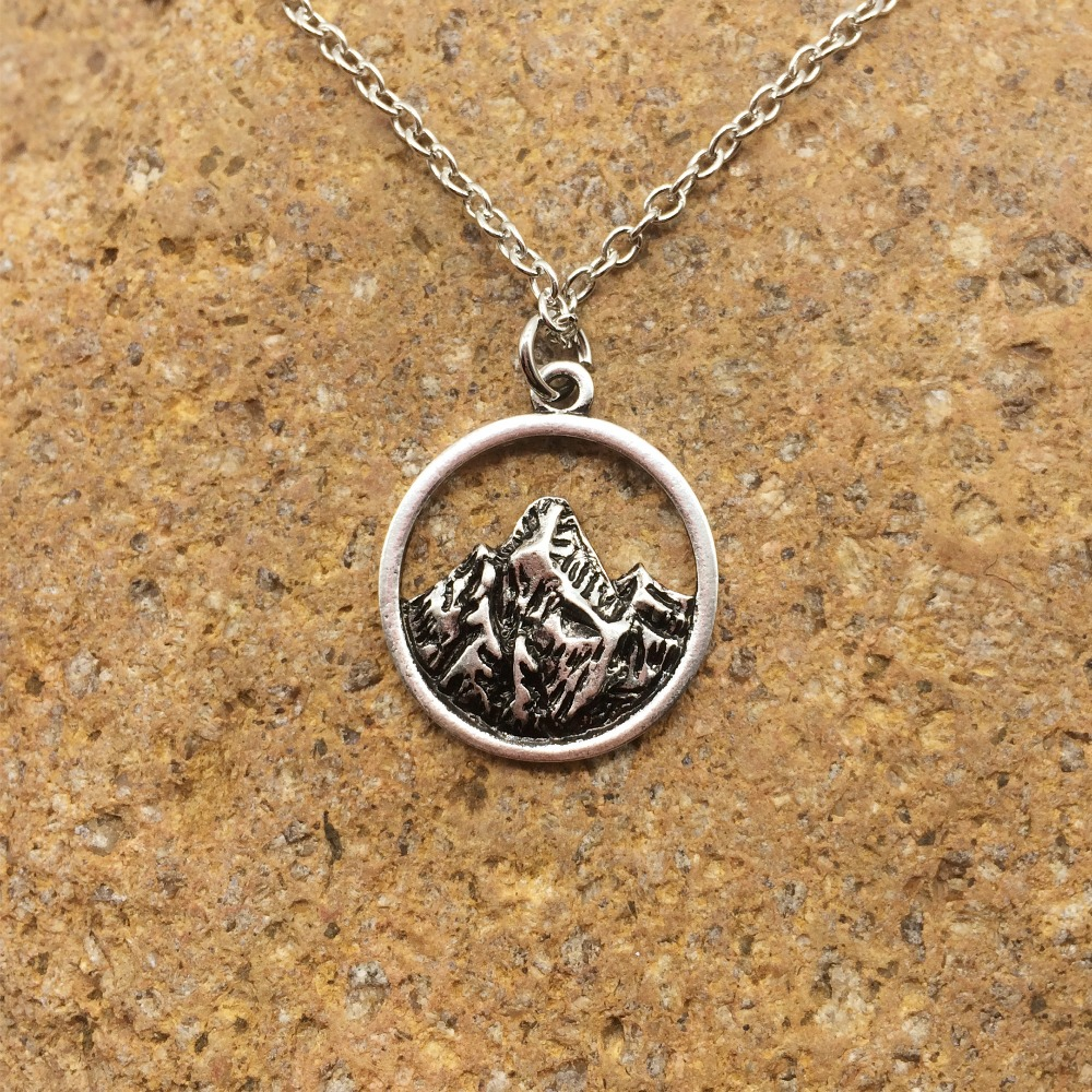 1pc mountain pendant necklace the mountains are calling. Black Bedroom Furniture Sets. Home Design Ideas